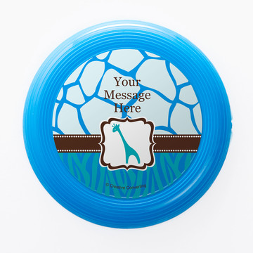 Wild Safari Blue Personalized Mini Discs (Set of 12)