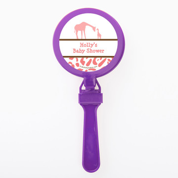 Wild Safari Pink Personalized Clappers (Set of 12)