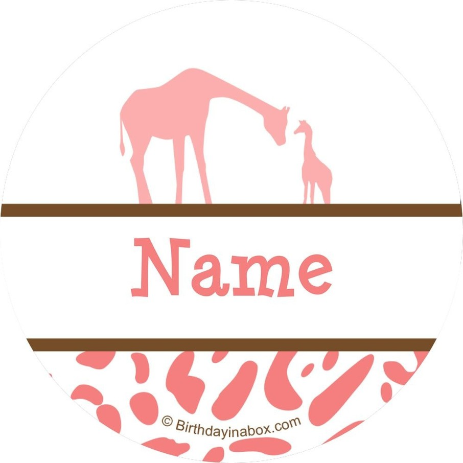 View larger image of Wild Safari Pink Personalized Mini Stickers (Sheet of 24)