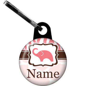 Wild Safari Pink Personalized Zipper Pull (Each)