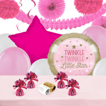 Twinkle Twinkle Little Star Pink Deco Kit