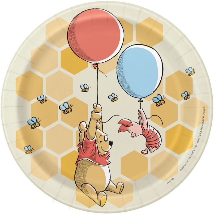 """View larger image of Winnie the Pooh 7"""" Dessert Plates (8)"""