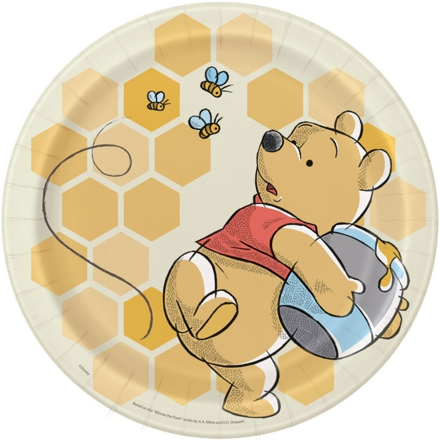 "View larger image of Winnie the Pooh 9"" Lunch Plates (8)"
