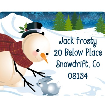 Winter Fun Personalized Address Labels (Sheet of 15)