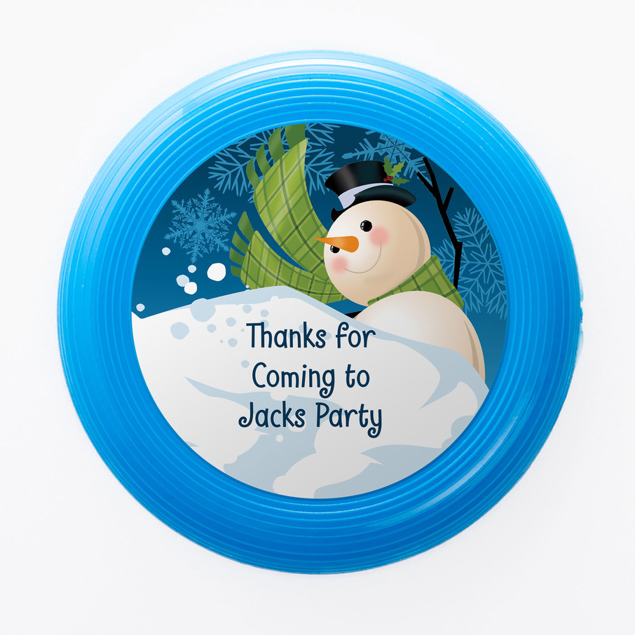 View larger image of Winter Fun Personalized Mini Discs (Set of 12)