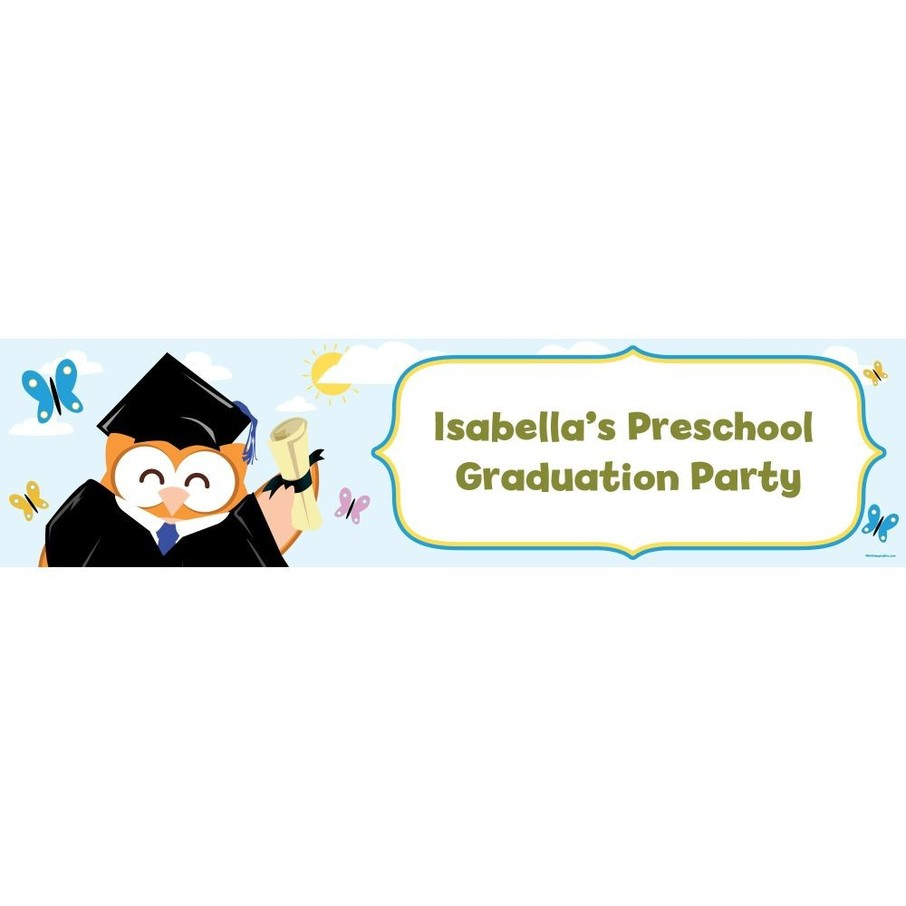View larger image of Wise Owl Grad Personalized Banner (Each)