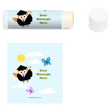 Wise Owl Grad Personalized Lip Balm (12 Pack)