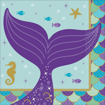 Wishful Mermaid Beverage Napkins (16)