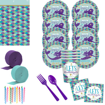 Wishful Mermaid Deluxe Tableware Kit (Serves 8)