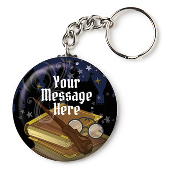 "Wizard Personalized 2.25"" Key Chain (Each)"