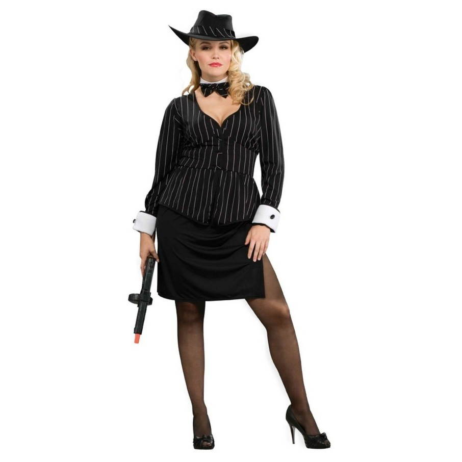 View larger image of Womans Plus Size Gangster Costume