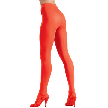 Womens Opague Red Tights
