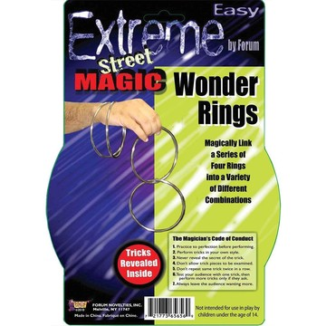 Wonder Rings Magic Trick (4 Rings)