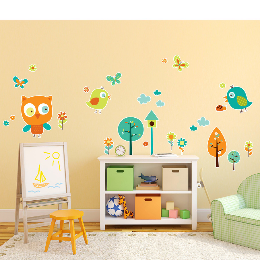 View larger image of Woodland Animals Giant Wall Decal