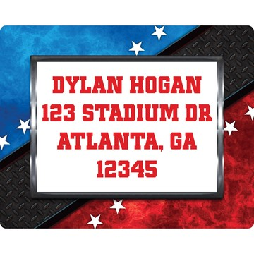 Wrestling Party Personalized Address Label