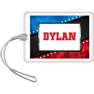 Wrestling Party Personalized Bag Tag (each)
