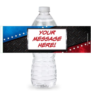Wrestling Party Personalized Bottle Labels (Sheet of 4)