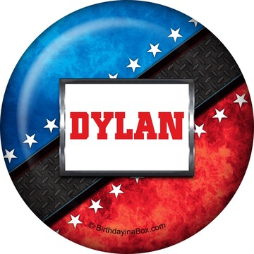Wrestling Party Personalized Button (each)