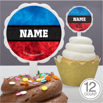 Wrestling Party Personalized Cupcake Picks (12 Count)