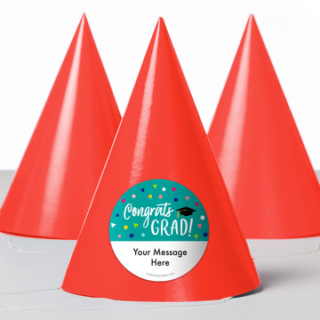 Yay Grad Personalized Party Hats (8 Count)