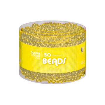 Yellow Bead Necklaces-Multipack