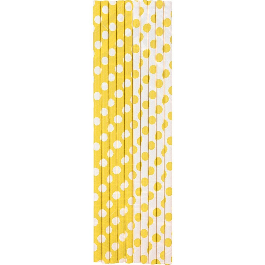 View larger image of Yellow Dots Paper Straws (10 Count)
