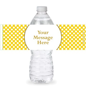 Yellow Dots Personalized Bottle Labels (Sheet of 4)