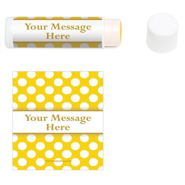 Yellow Dots Personalized Lip Balm (12 Pack)