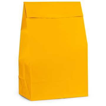 Yellow Paper Favor Bags (12 Pack)