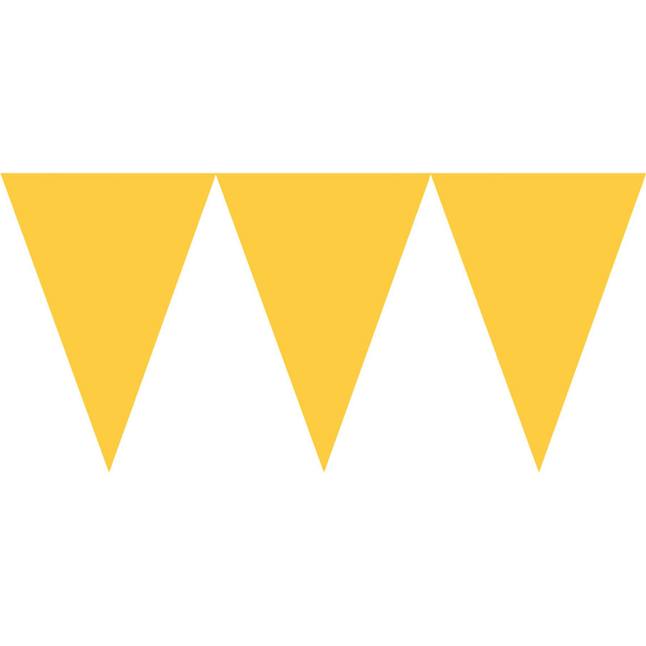 View larger image of Yellow Paper Pennant Banner