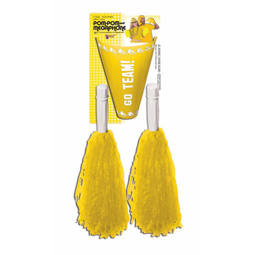 Yellow Pom-Pom Megaphone Set