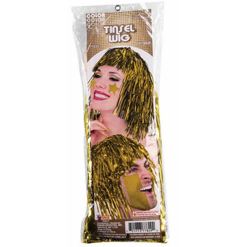 Yellow Tinsle Wig