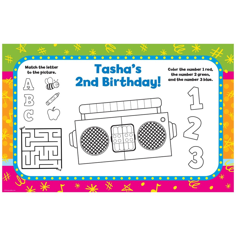 View larger image of Yo Yo Dance Party Personalized Activity Mat (8 pack)