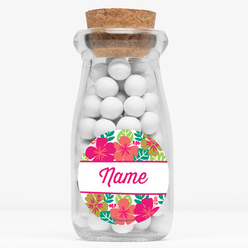 """You Had Me At Aloha Personalized 4"""" Glass Milk Jars (12 Count)"""