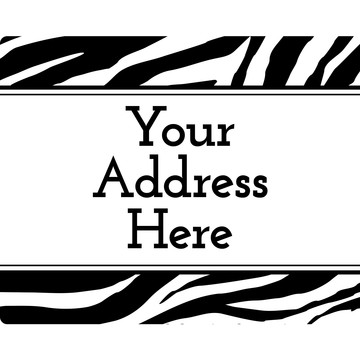 Zebra Animal Print Personalized Address Labels (Sheet of 15)
