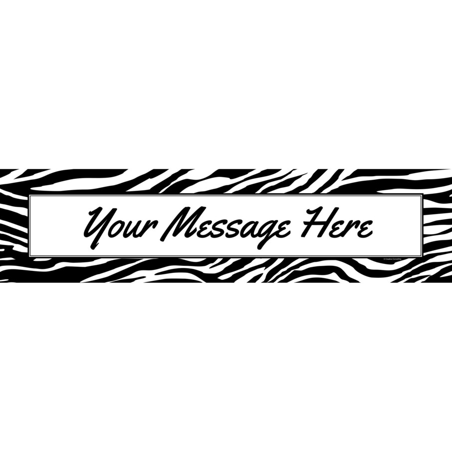 View larger image of Zebra Animal Print Personalized Banner (Each)