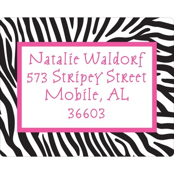 Zebra Party Personalized Address Labels (Sheet of 15)