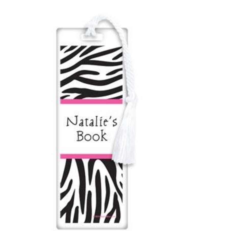 View larger image of Zebra Party Personalized Bookmark (each)