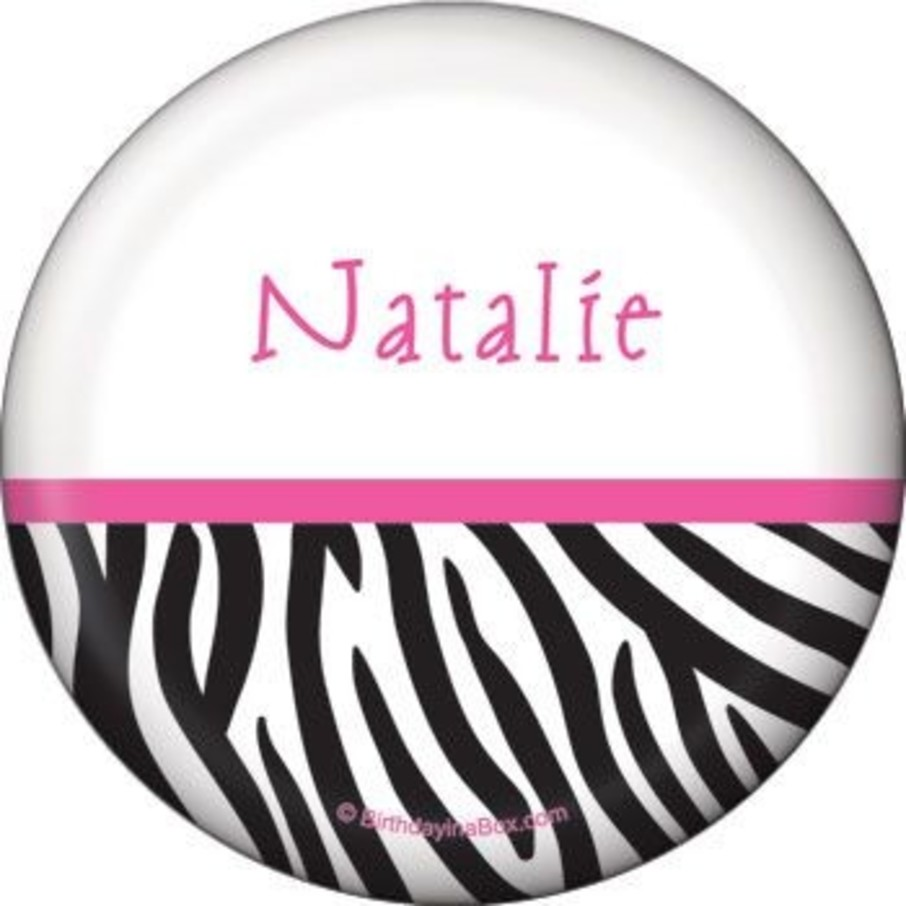 View larger image of Zebra Party Personalized Button (each)