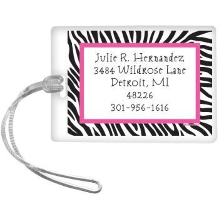 View larger image of Zebra Party Personalized Luggage Tag (each)