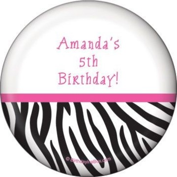 Zebra Party Personalized Magnet (each)