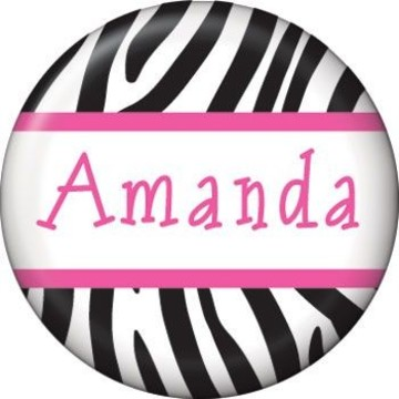 Zebra Party Personalized Mini Magnet (each)