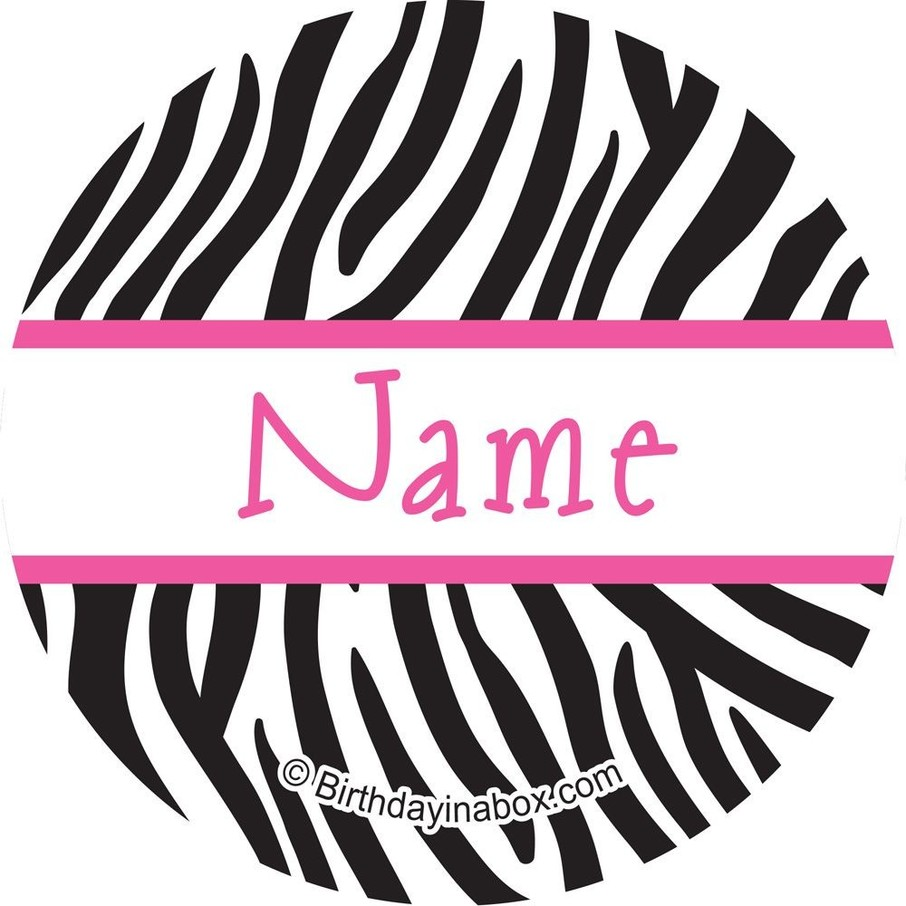 View larger image of Zebra Party Personalized Mini Stickers (Sheet of 24)