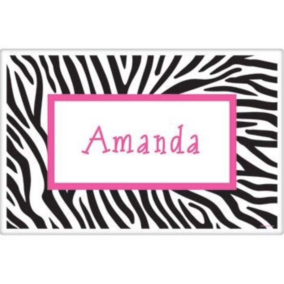 View larger image of Zebra Party Personalized Placemat (each)