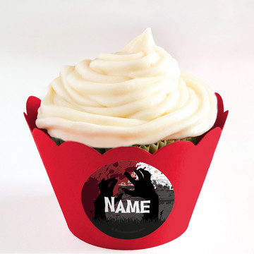 Zombie Personalized Cupcake Wrappers (Set of 24)