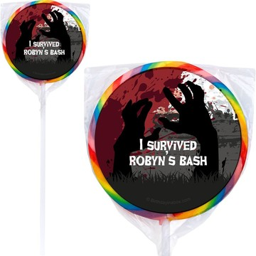 Zombie Personalized Lollipops (Set of 12)