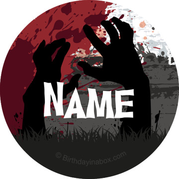 Zombie Personalized Mini Stickers (Sheet of 24)