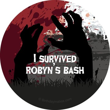 Zombie Personalized Stickers (Sheet of 12)