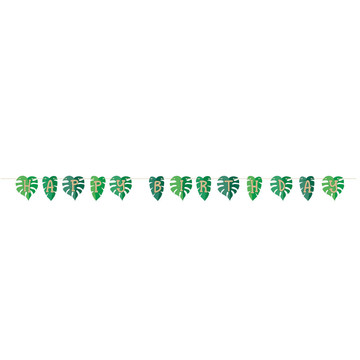 Zoo Animals Leaf Shaped Birthday Ribbon Banner