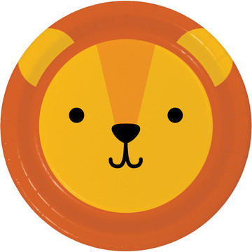 Zoo Animals Lion Lunch Plates (8)